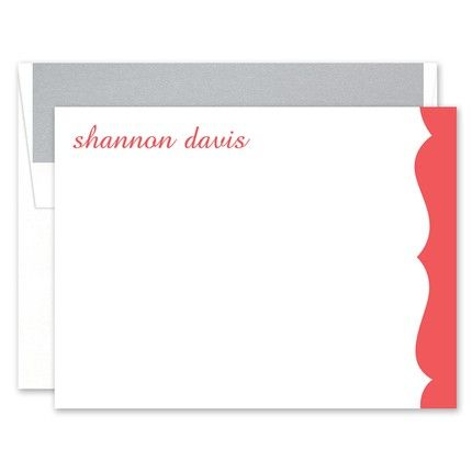 Scalloped Flat Card