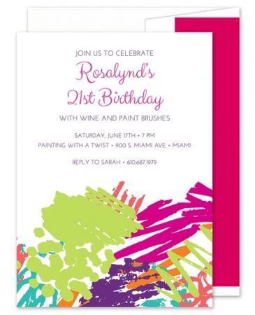 Paint Splatter Invitation