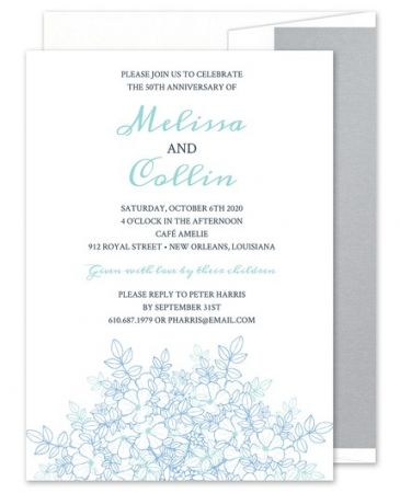 Floral Sketch Invitation