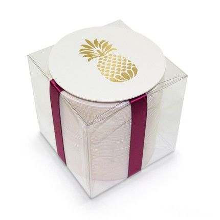 Gold Foil Pineapple Coasters