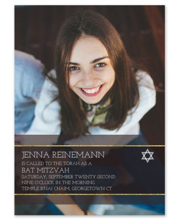 Formal Mitzvah Invitation