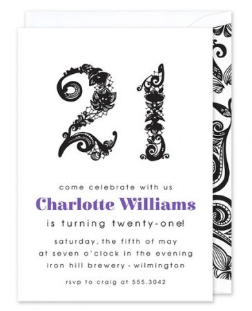 Twenty-One Invitation