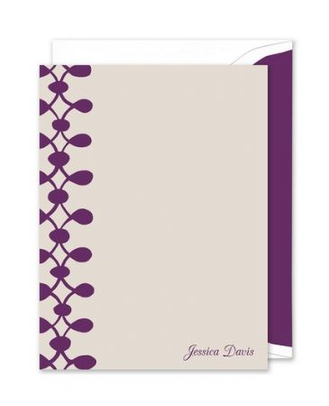 Celine Purple Flat Card