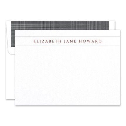 White Camden Flat Card