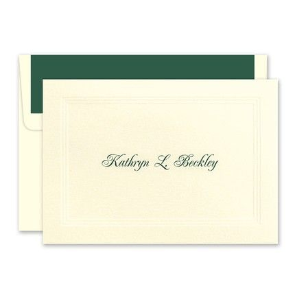 Ivory Border Note Card