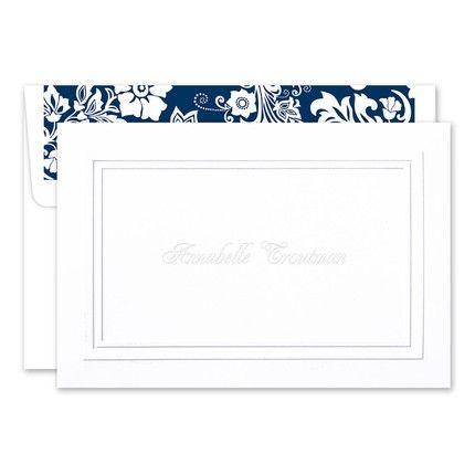 Embossed White Note Card