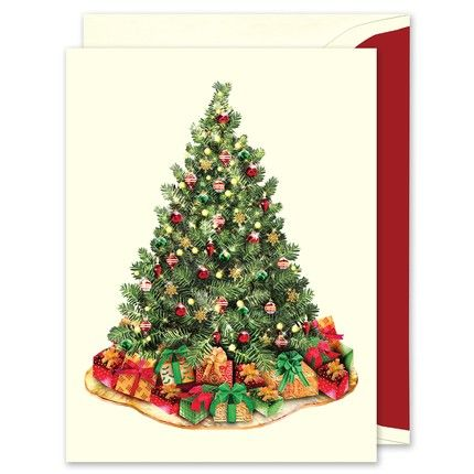 Classic Holiday Tree Greeting Card