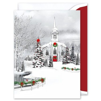 Snowy Chapel Greeting Card