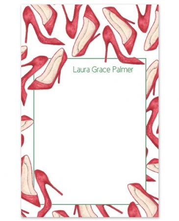 Red Heels Note Pad