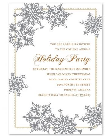 Snowflakes Invitation