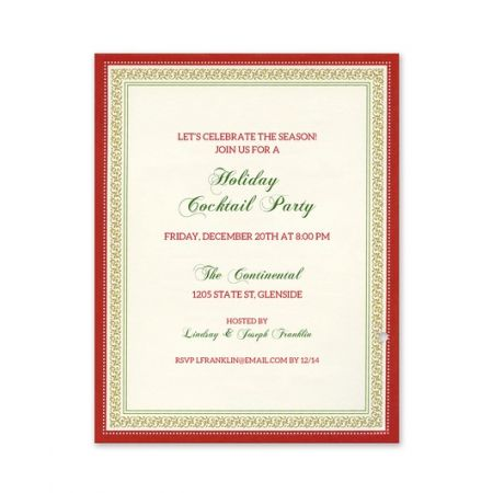 Holly Bouquet Invitation