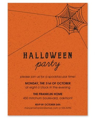 Spider Web Invitation