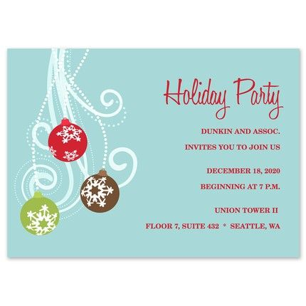 Ornament Holiday Invitation