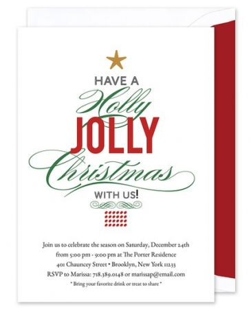 Holly Jolly Invitation