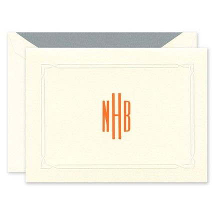 Interlocked Border Note Card