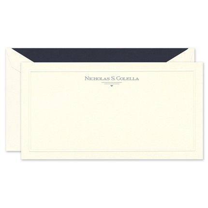 Ecru Rounded Bar Note Card