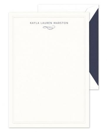 White Rounded Lettersheet