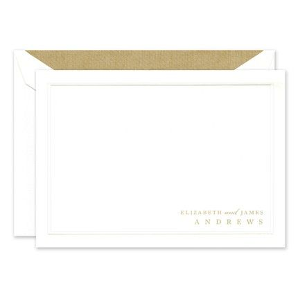 White Rounded Bar Flat Card