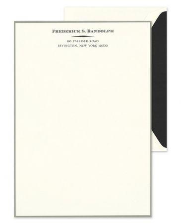 Graphite Border Lettersheet