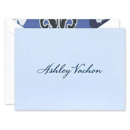 Azure Blue Folded Note