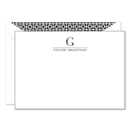 Initial Black & White Flat Card