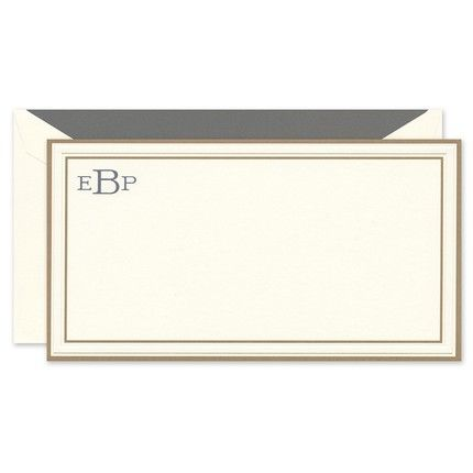 Copper Border Flat Card