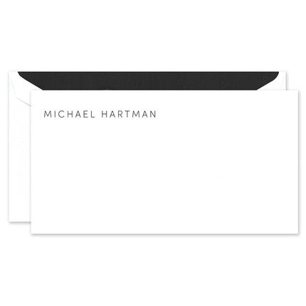 White Flat Note Card