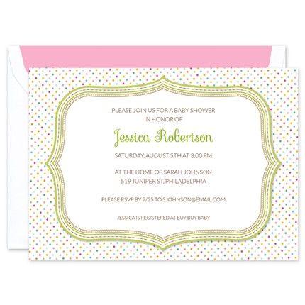 Polka Dot Shower Invitation
