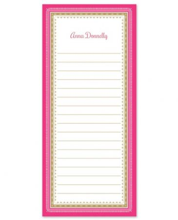 Pink & Gold List Pad