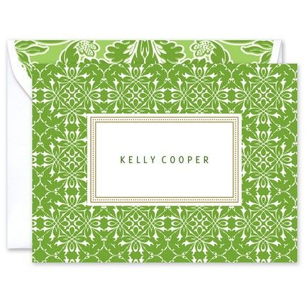 Green Trellis Note Card