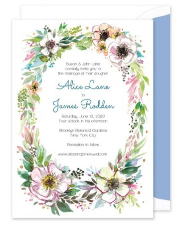Rustic Floral Invitation