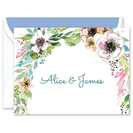 Rustic Floral Note Card