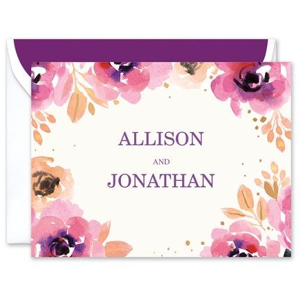 Blushing Floral Note Card