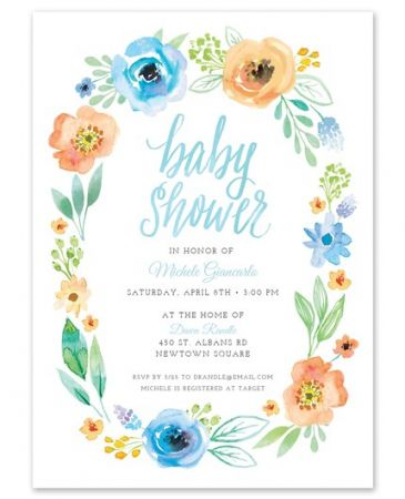 Garland Shower Invitation