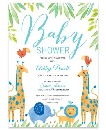 Blue Zoo Invitation