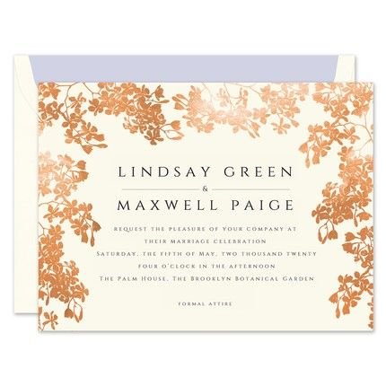 Gilded Rose Invitation