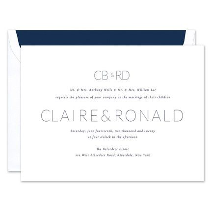 Simply Chic Invitation