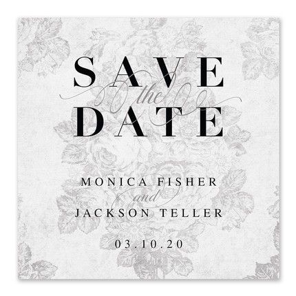 Victorian Grey Save the Date