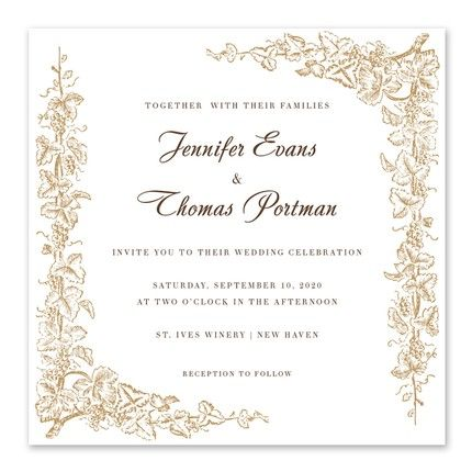 Intertwined Vines Invitation