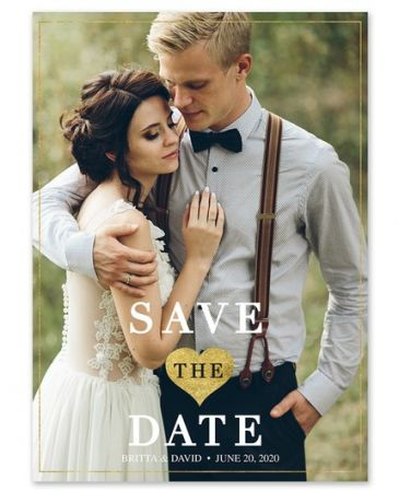 Golden Love Save the Date
