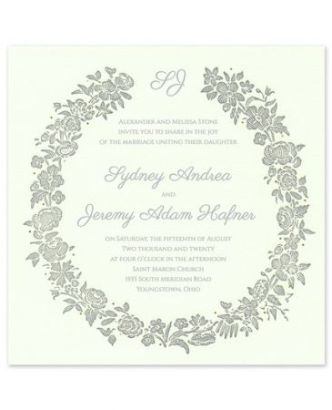 Rosy Wreath Invitation