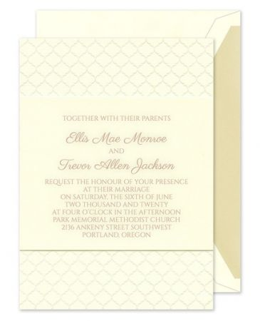 Simply Blissful Invitation