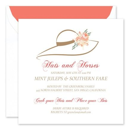 Floral Hat Invitation