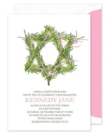 Wreath Mitzvah Invitation