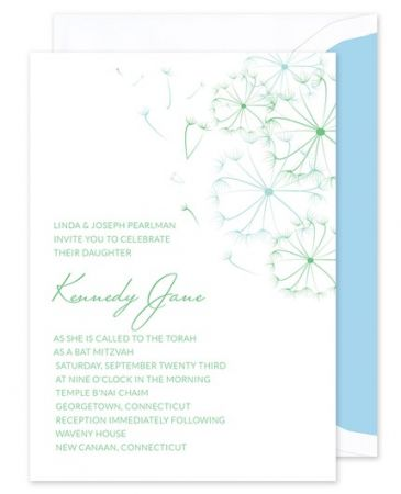 Teal Flower Invitation