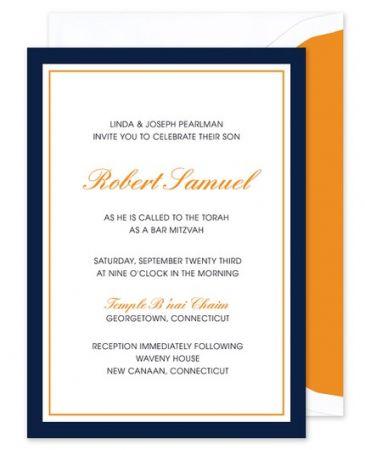Blue & Orange Invitation
