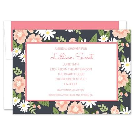 Lillian Floral Invitation