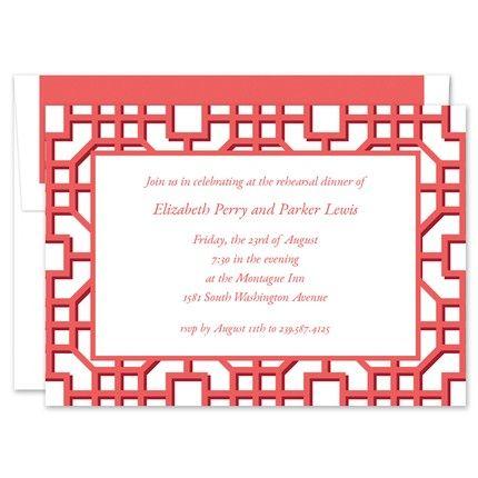 Fret Coral Invitation