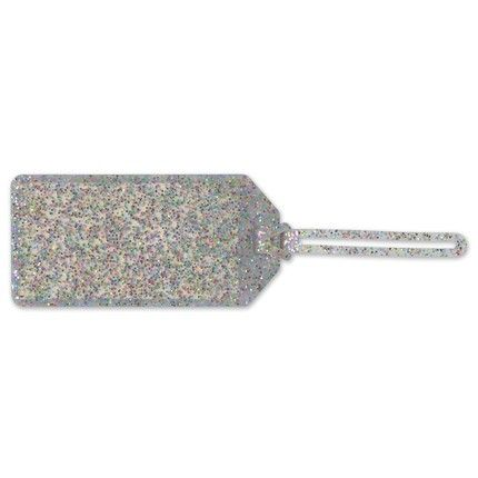 Multi-Glitter Luggage Tag