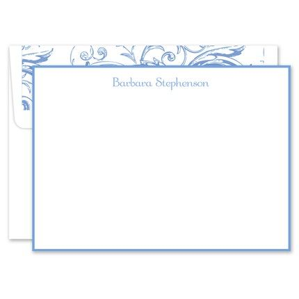 Soft Blue White Flat Card